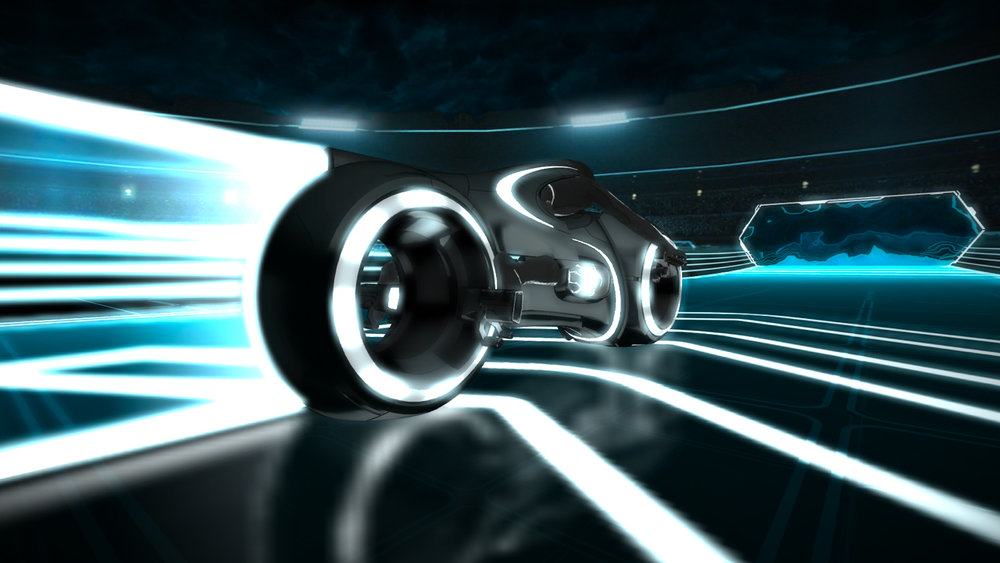 Tron Lightcycle, Disney Unity Web Player, 2010