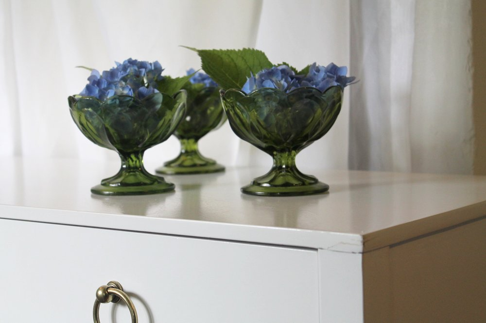 Green Footed Vase3.00 each3 Qty -