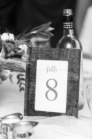 Wooden Framed Table Numbers1.00 each15 QtyPhotography: Hind Hart Studios -