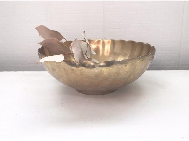 Petal edge Brass Vase5.00 -