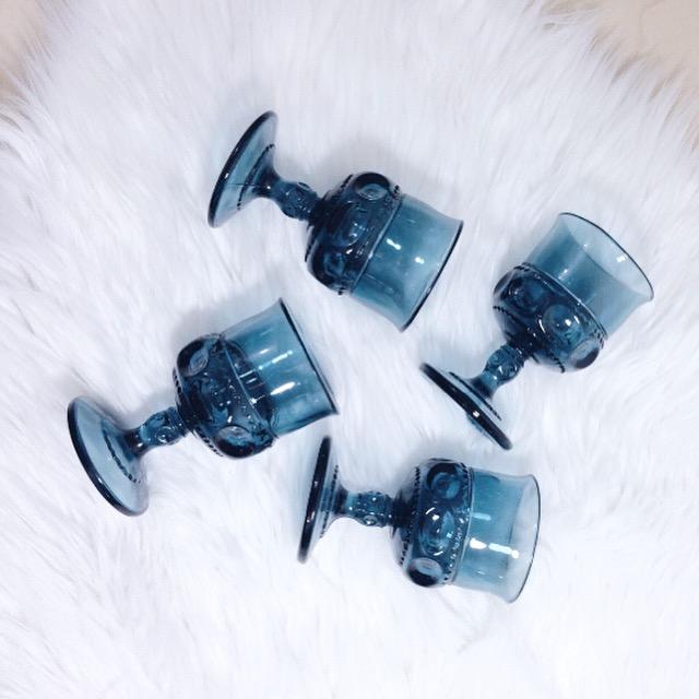Blue Goblets4 3/8