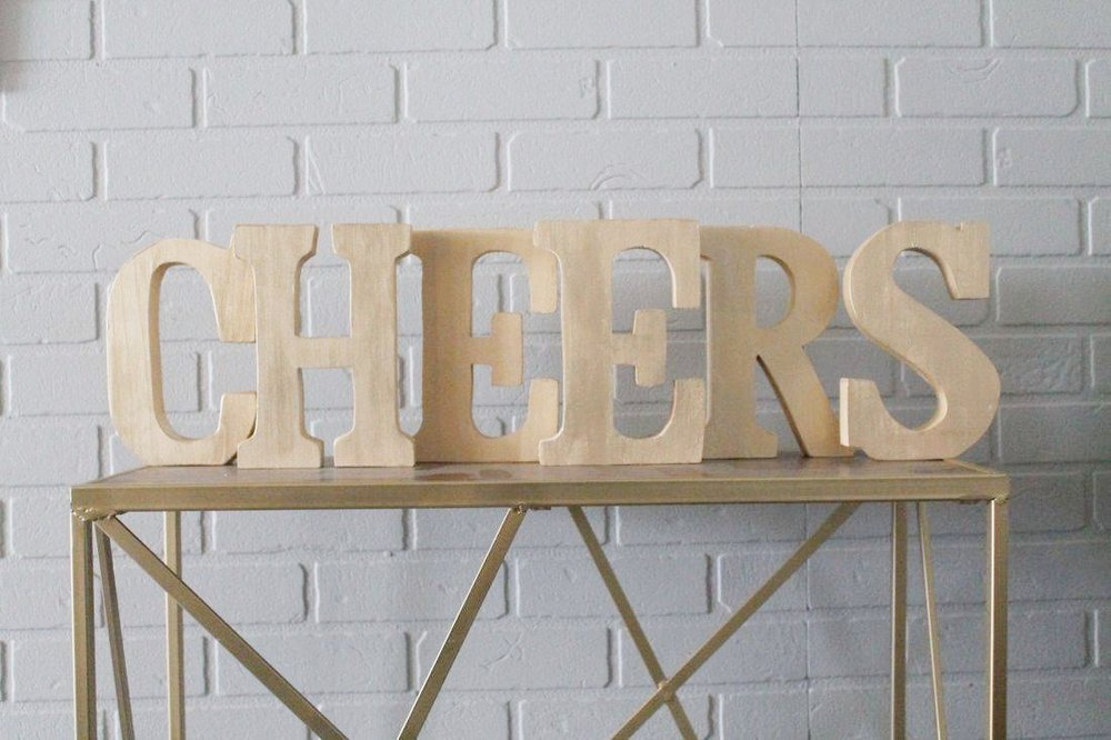 CHEERS Block Letters10.00 -