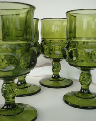 Green Thumbprint Goblets3.00 each12 Qty -