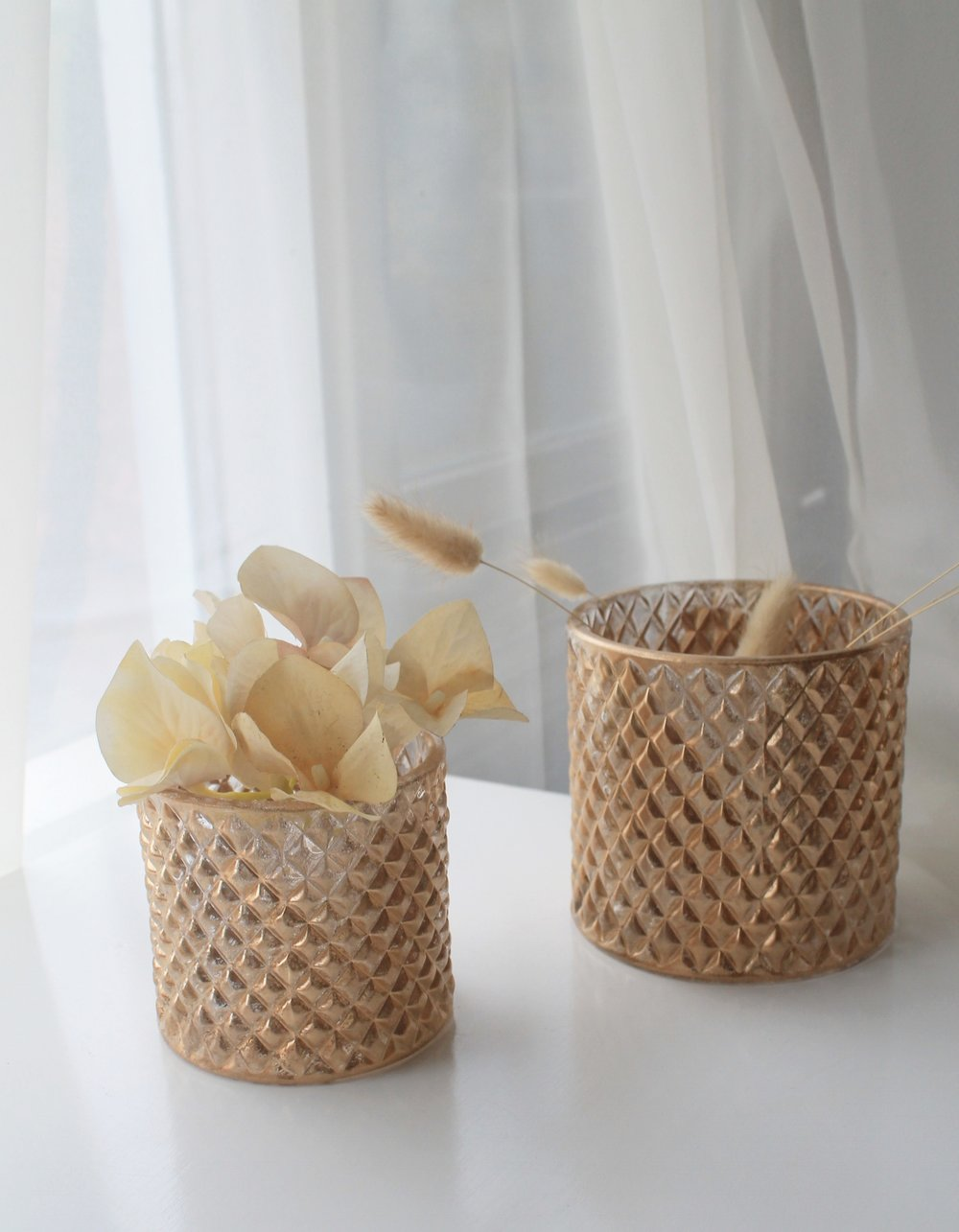 Gold Textured Vases2.00 each25 Qty Small and Medium sizes -