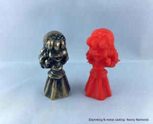 Stampa3D con LumiForge e resina Lumireact CS e fusione in metallo.