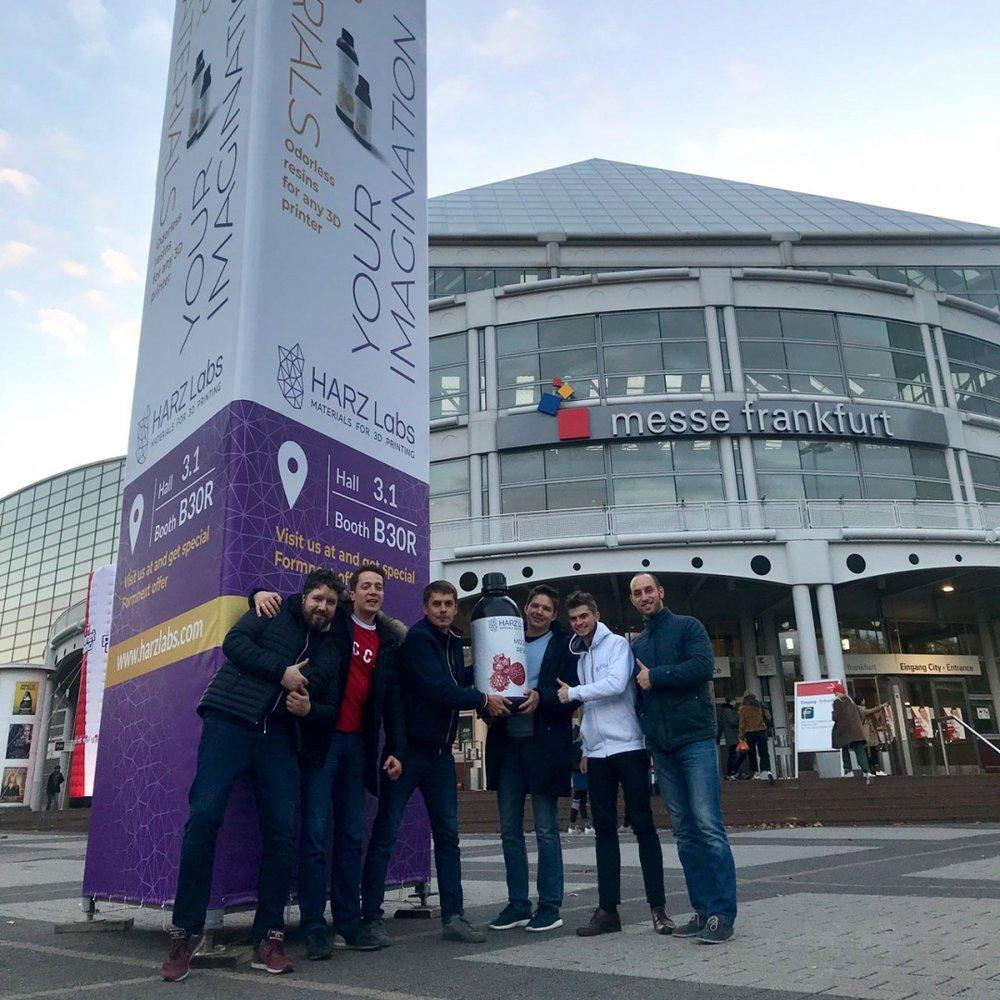 Harzlabs Team alla fiera Formnext 2018, Francoforte