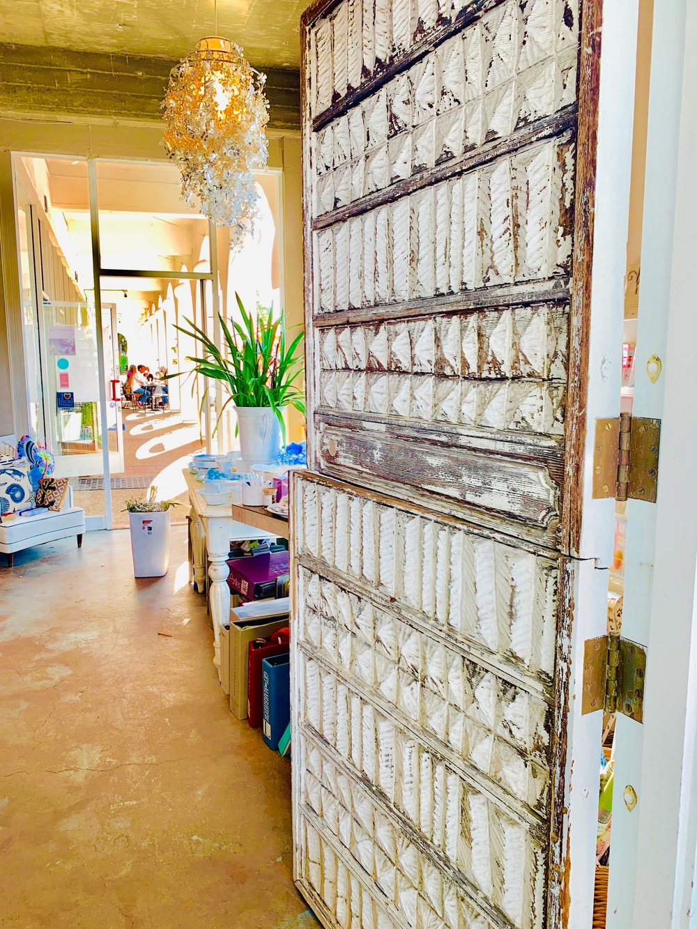 Inside the boutique