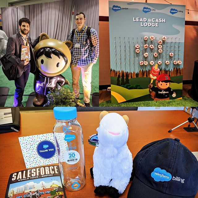 The #demandDrive marketing team had a great time at Salesforce World Tour Boston! Thanks @salesforce for showing us exciting new features, upcoming trends, and how to blaze our own trail! #salesforcetour #trailblazers #donutwall #swag