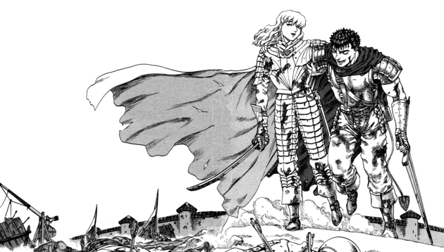 Griffith and Guts before the fall…