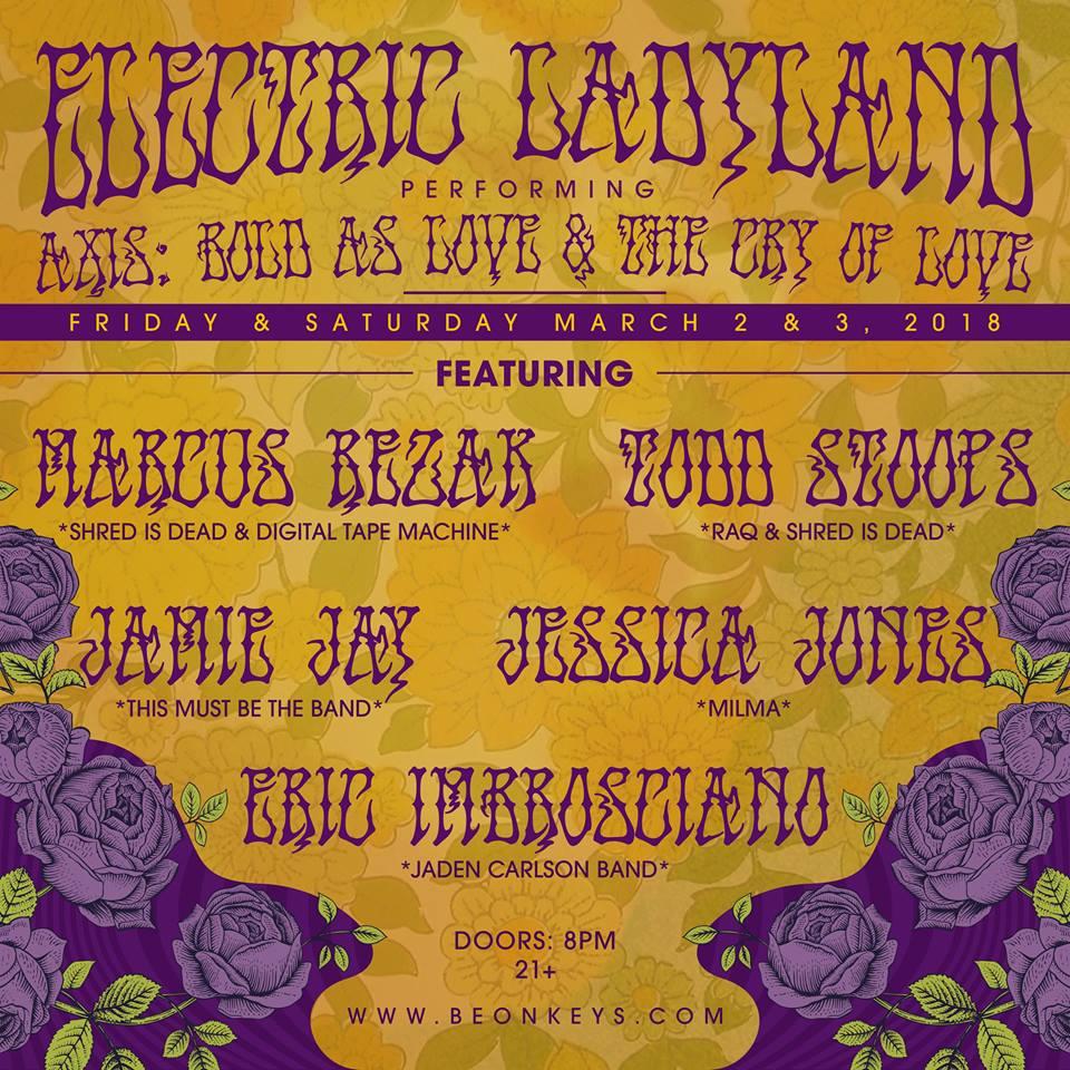 """Angel"" Marcus Rezak plays Jimi Hendrix"