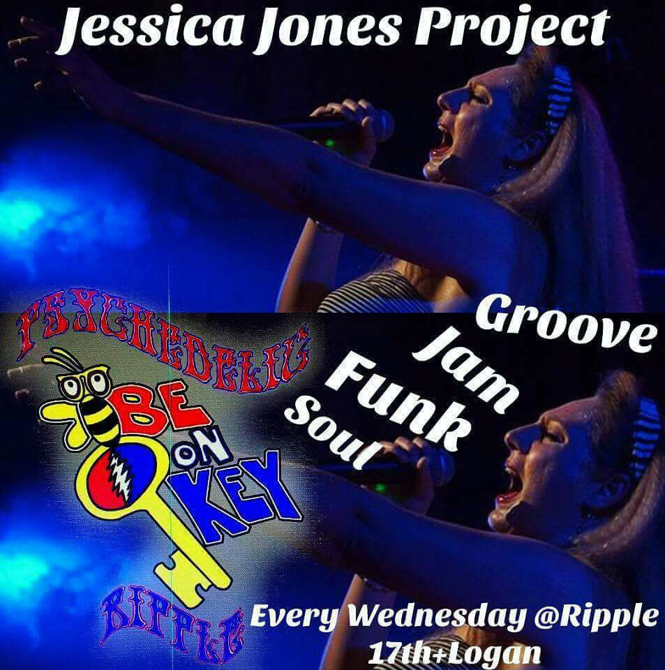 """Fame - Andre Mali Solo"" Jessica Jones Project at Be On Key Psychedelic Ripple 3.8.17"
