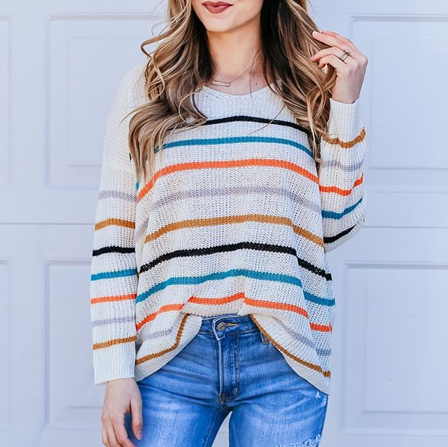 Favorite lightweight spring sweater is in stock and live over on our website💁🏼‍♀️