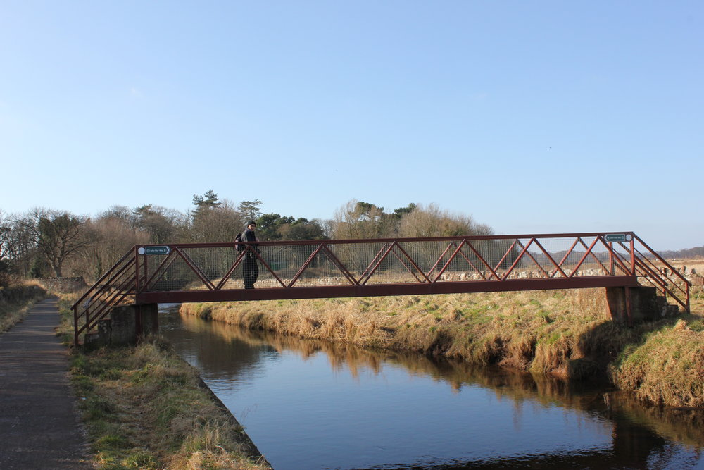 The Biel Crossing - heading for West Barns