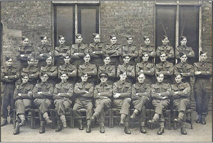 Bamber Bridge: Driver/Wireless Ops, December 1942  Don Edwards, front row, left