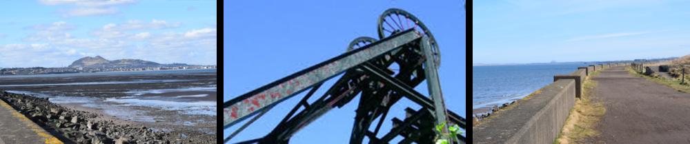 Looking toward Arthur's Seat Winding Wheel, Prestongrange, Looking back towards the Law