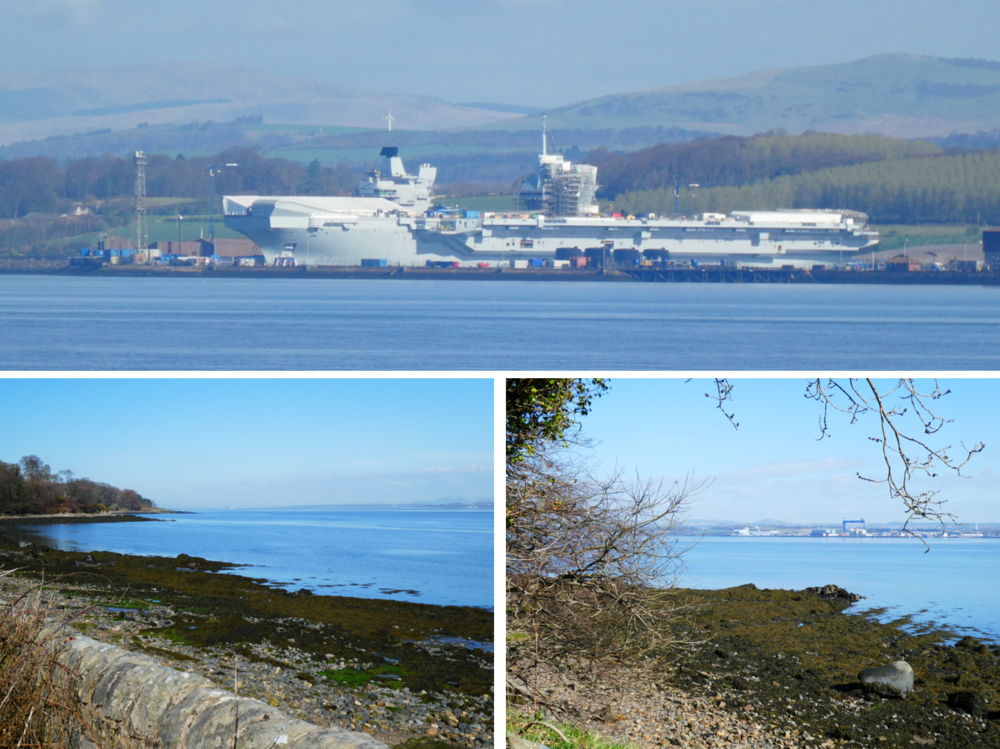 The Firth of the Forth Foreshore, for sure… HMS Queen Elizabeth nearing completion, Rosyth