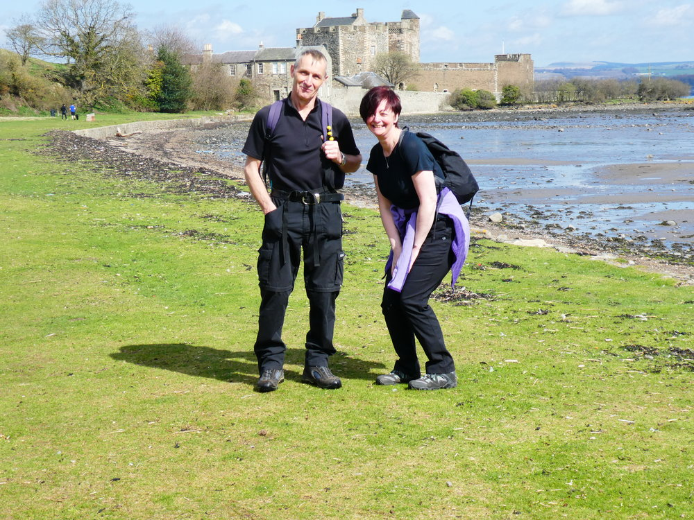 Neil and Iona visit Blackness Castle