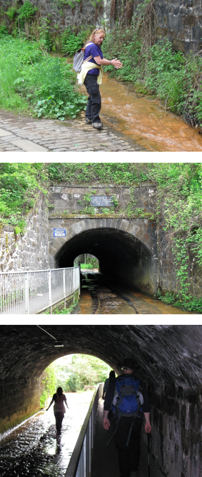 Top: Mo and the rusty stream  Middle: The Radical Pend  Bottom: Walking under the Canal