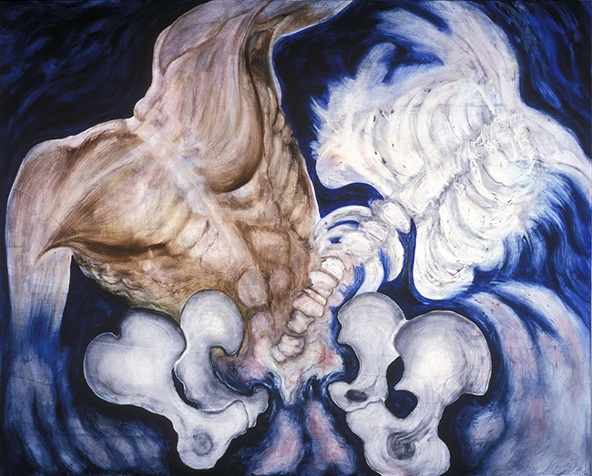 Body and Soul 1998 oils/canvas 48 x 60""