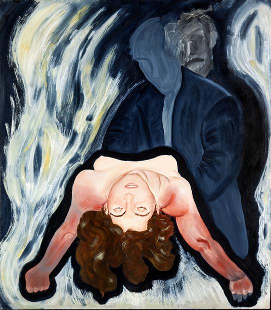 "Sacrifice  1990  oils/canvas  52 x 44"""