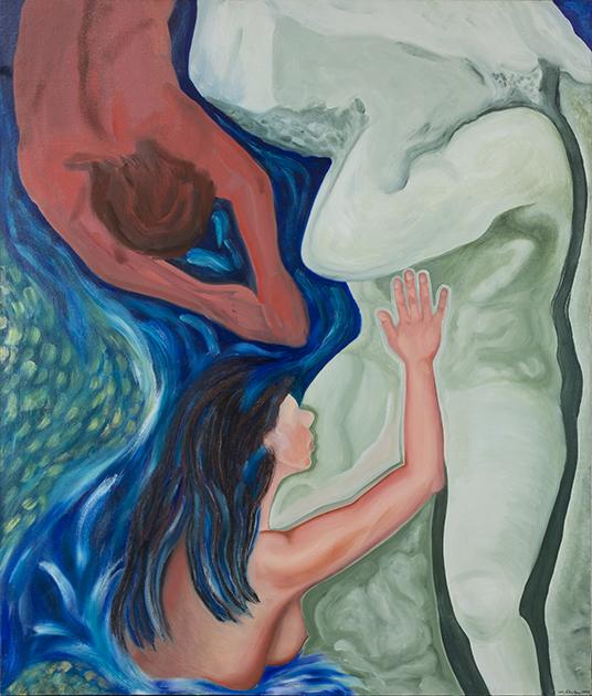 "Captive   1993   oils/canvas   52 x 44"""