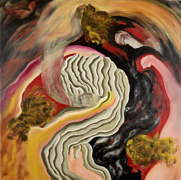 """Embrace  1995 oils/canvas 48 x 48"""""""