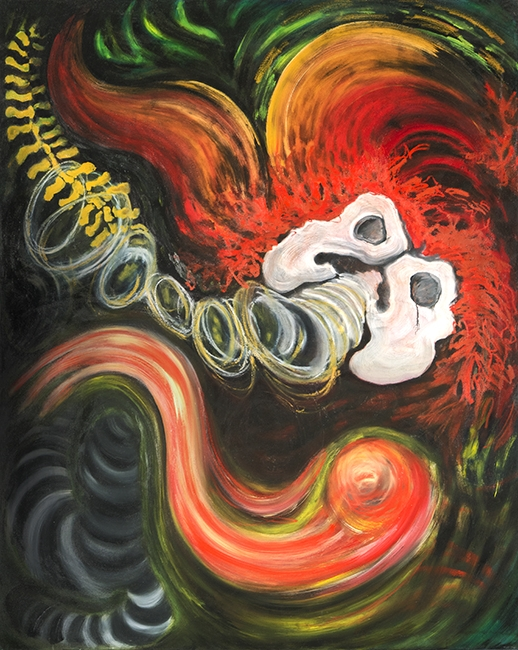 "Wailing Pelvis #2   1996  oils/canvas  48x 60"""