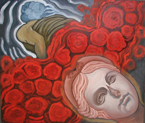Head of Athena  2008  oils/canvas 48 x 54""
