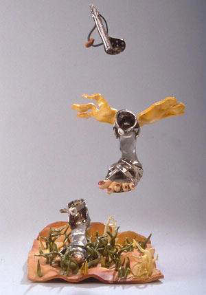 Flying Sandal Landscape 1976 glazed earthenware 42 x 17 x 14 ""