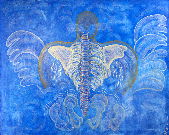 Body and Soul #4-Blue Angel 2017 oils/canvas 60 x 72""