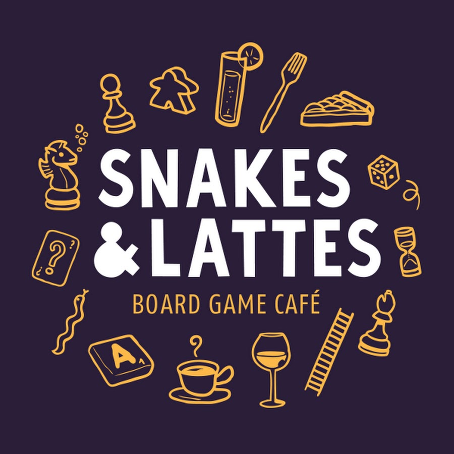 snakes and lattes board game cafe logo