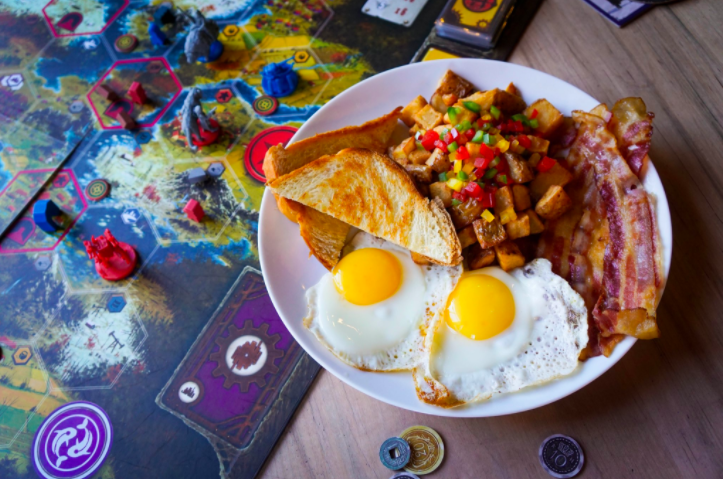 What could be better than weekend brunch and board games?
