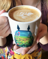 the rook and pawn board game cafe latte in anime mug