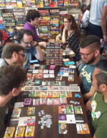 the uncommons board game cafe guests playing games at table