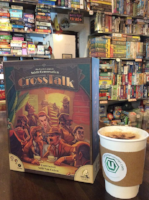 the uncommons board game cafe chai latte pairing with cross talk board game