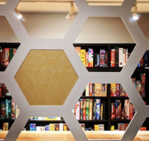 the hexagon board game cafe board game library selections