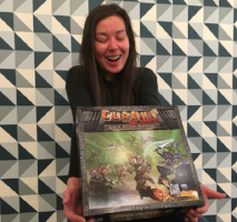 the hexagon board game cafe staff favorite clank in space board game