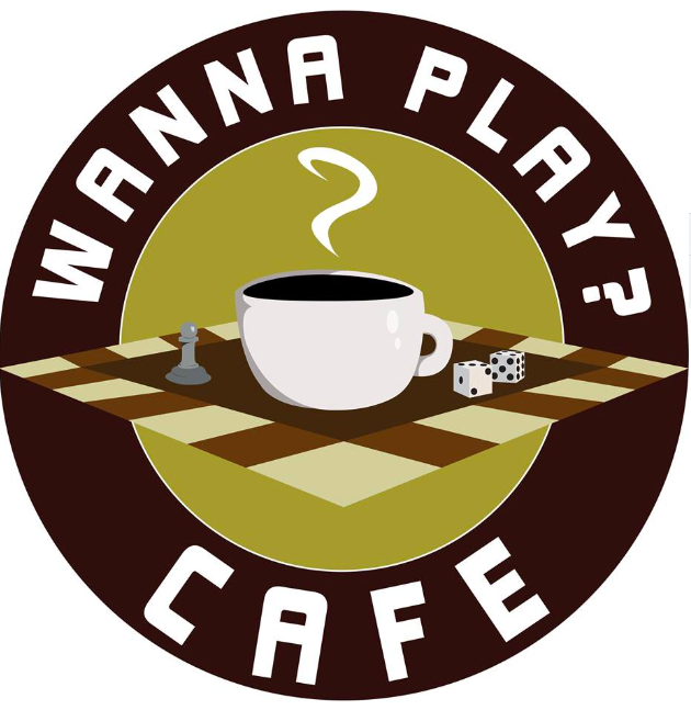 wanna play cafe board game cafe logo