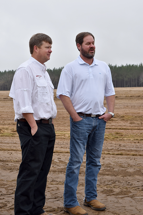 Jason Womack (left) and NRCS District Conservationist Craig Bevan (right)
