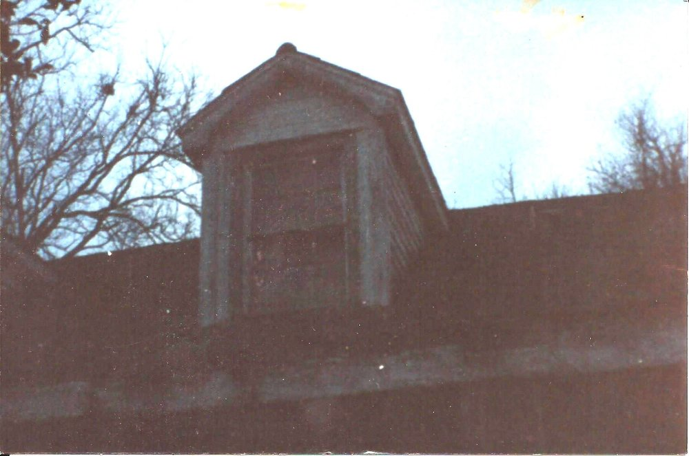 This is one of the four dormer windows on the real House on Judith Street.  This picture was taken shortly before the house was torn down.