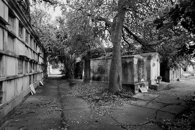 The streets of Oddfellows Rest Cemetery are haunting even in the daylight.