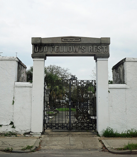 The entrance to Oddfellows Rest Cemetery in New Orleans, where many of the members of the Ordo de Vesperius were buried.  This will be a filming location.