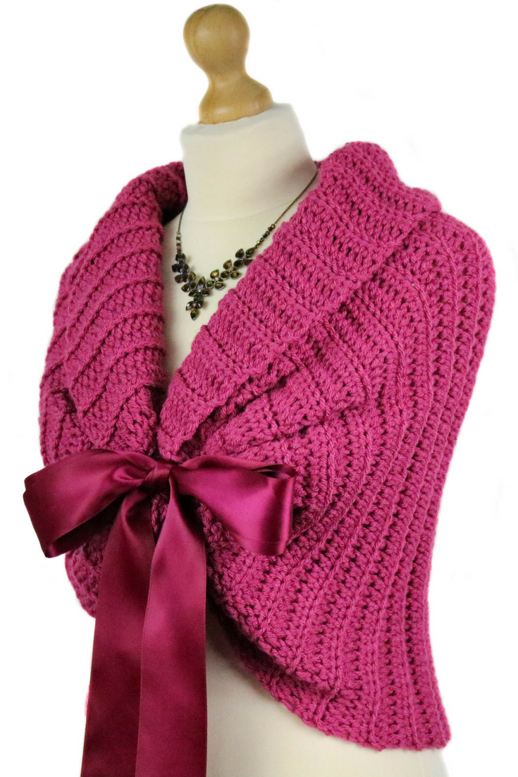 Raspberyy Pink Bridesmaid Shawl