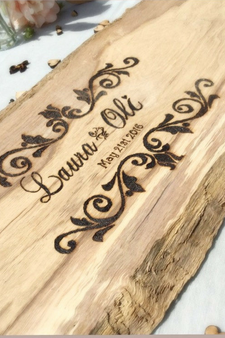 Rustic Wedding Guestbook - from $27