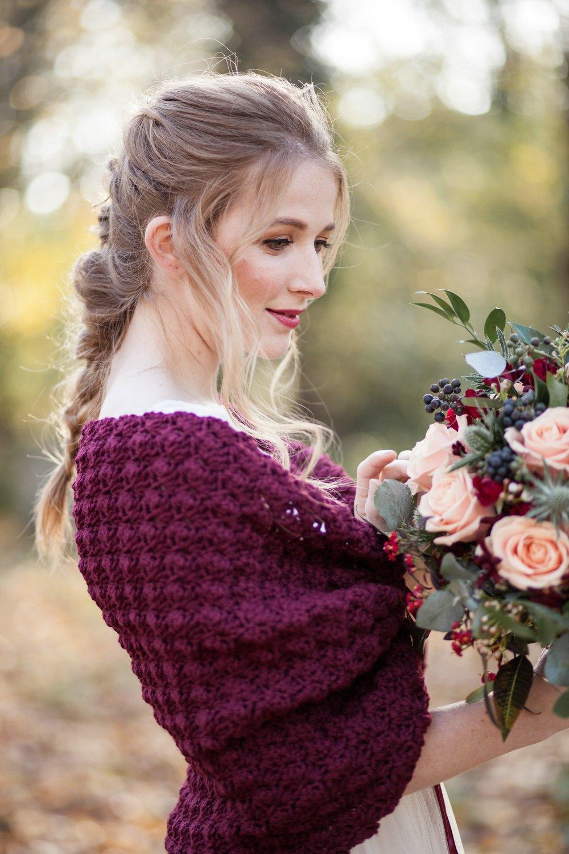 Winter Wedding Bolero Burgundy Shrug Bridal dress Cover up Capelet for brides4.jpg