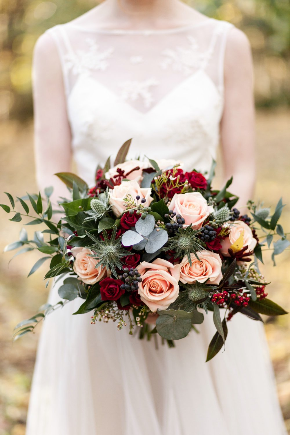 bridal look bridal bouquet burgundy wedding.jpg