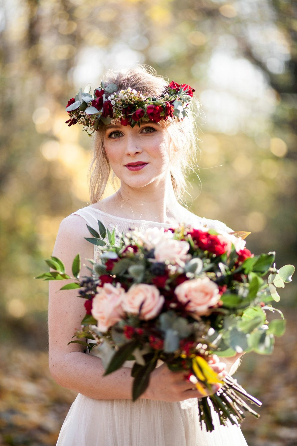 bridal look bridal bouquet bridal floral crown.jpg
