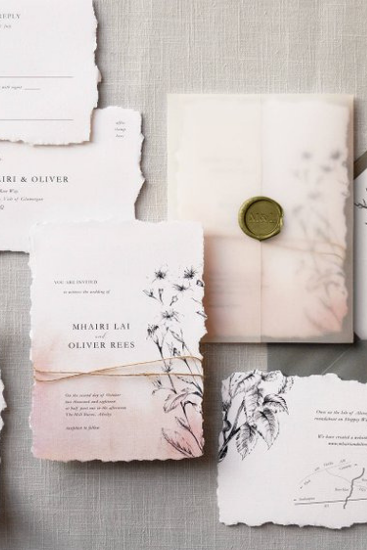 Daydream - Luxury Wedding Invitations & Save the Date. Torn edge, twine, vellum wrap, wax seal, British Wildflowers.png