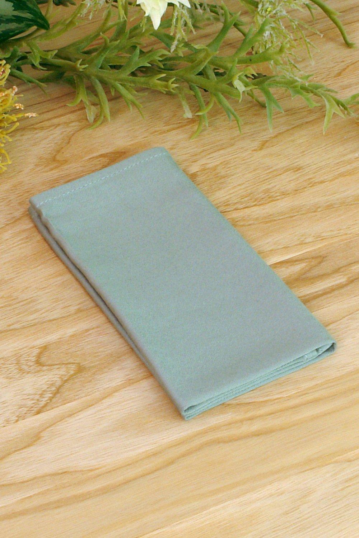 Pocket square Pale Jade Green Matching Hanky Sage Green Men's handkerchief Necktie.jpg