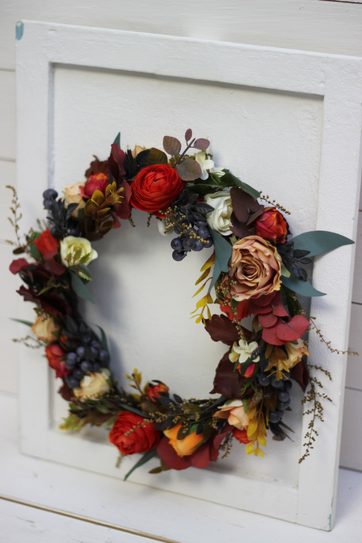 Burnt orange flower crown Fall wedding Rust ivory floral halo Bridal headpiece Flower accessories